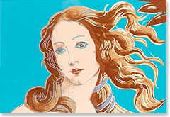Andy Warhol, Venus (from Details of Renaissance paintings)- Sandro Botticelli, Birth of Venus, 1482