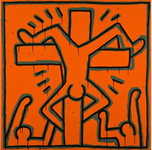 Keith Haring, Untitled (Inverted Crucifix)