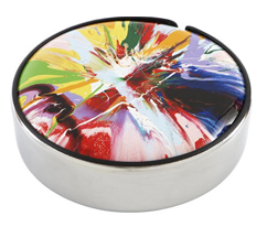 Damien Hirst's spin-art wheel cover