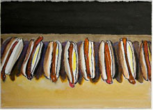 Wayne Thiebaud, Hot Dog Row
